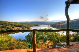 View from The lodge in South Africa
